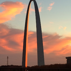 The Arch by Jim Suter - Buildings & Architecture Statues & Monuments ( clouds, sunset, gateway arch, st. louis )