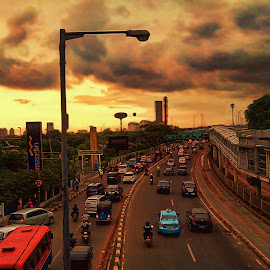 Before Rain by Lestari El-Surury - City,  Street & Park  Street Scenes
