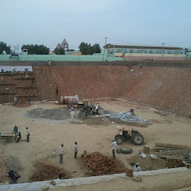 construction is going on of a very very big pond near my college by Ankur Sirsa - Buildings & Architecture Other Exteriors
