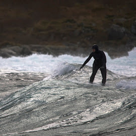 Surfing in Alnes Norway by Per Alnes - Sports & Fitness Surfing