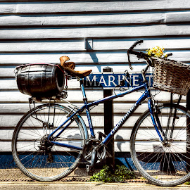 Whitstable parking by Laura Prieto - Transportation Bicycles ( english landscape, whitstable, kent, summer, quirky bike, land, device, transportation )