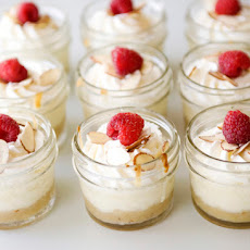 Mini Almond Cheesecakes Baked in a Jar