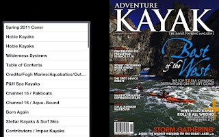 Screenshot of Adventure Kayak Magazine