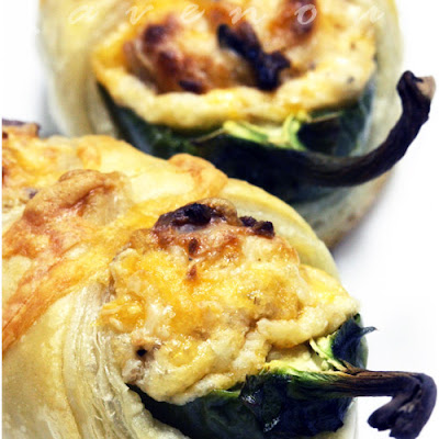 Jalapeno Poppers in Puff Pastry Blanket