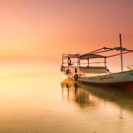 let's go fishing by Tito Pradipta - Transportation Boats ( sunset, beach, fisherman, boat, fishing boat )