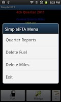 Screenshot of SimpleIFTA Trucking IFTA Log