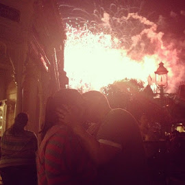 Sparks fly. by Melissa Ledea - People Couples