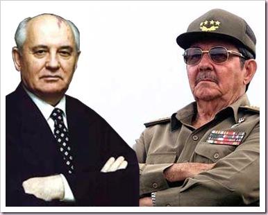 Raúl y Gorbachov