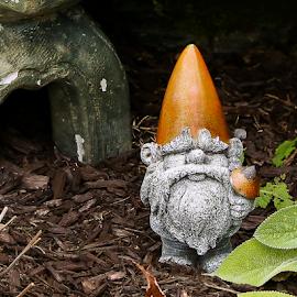 Garden Elf by Nancy Merolle - Artistic Objects Other Objects