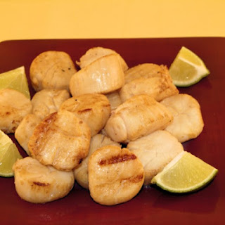 Grilled Marinated Scallops