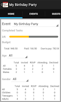 Screenshot of Event Planner (Party Planning)