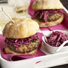 Pork & Apple Burgers With Pickled Red Cabbage