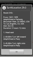 Screenshot of GPS Tracker Info EarthLocation