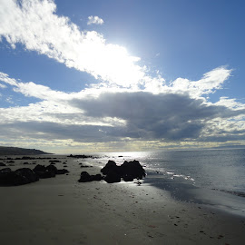 Omaui Beach by Marion Metz - Landscapes Beaches ( clouds, omaui, sand, weather, beach, new zealand, sun )