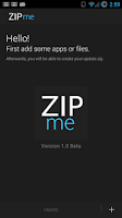 Screenshot of ZIPme