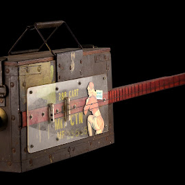 Ammo Box by Dietmar Kuhn - Artistic Objects Musical Instruments ( music, old, girl, guitar, strings, box, traditon, blues, bullet, cigarbox,  )