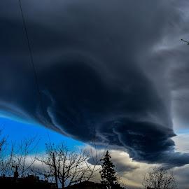 Dark clouds by Eric Brajković - Landscapes Cloud Formations ( cloud formations, clouds, dark, cloudy, cloud, dark background )