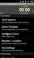 Screenshot of Advanced Clock Widget Pro