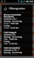 Screenshot of Mensa Studentenwerk Mannheim