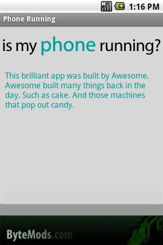 Phone Running