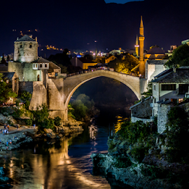 Mostar by Wim Moons - City,  Street & Park  Historic Districts ( bosnië en herzegovina, mostar, bih, bjelušine, federation of bosnia and herzegovina )