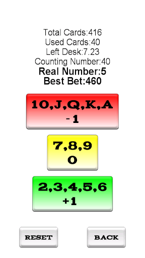 BlackJack Counting Master Pro - screenshot