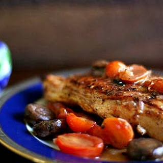 Chicken, Mushrooms, and Tomatoes with Port Wine