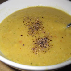 Lowfat Acorn Squash Soup With Roasted Garlic