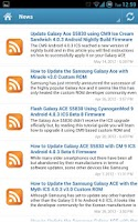 Screenshot of Samsung Galaxy Ace News