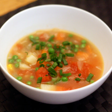 how to make vegetable soup with canned tomatoes