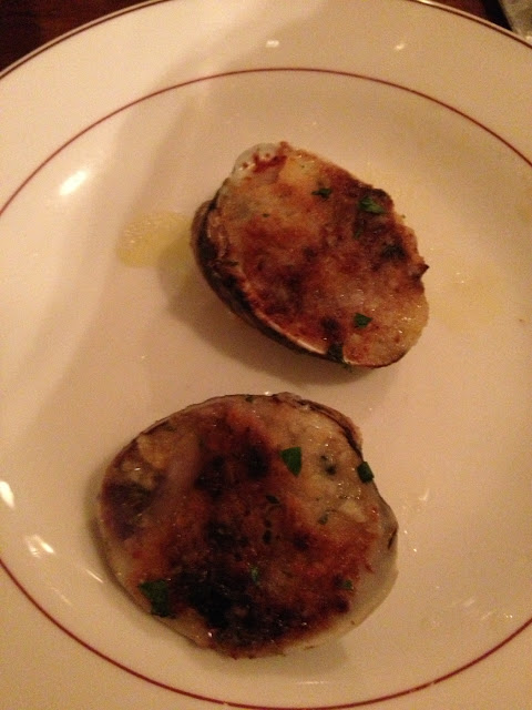 One gf clam on my app plate. So yummy!  Just like gluten-filled baked clams.