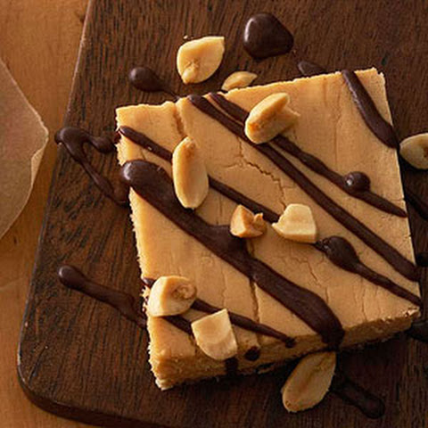 Chocolate-Drizzled Peanut Butter Cheesecake Bars