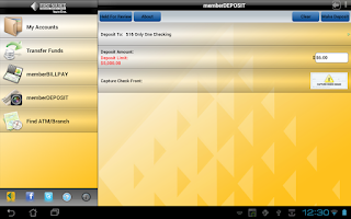 Screenshot of memberMobile for Tablet