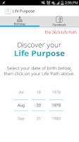 Screenshot of Life Purpose App