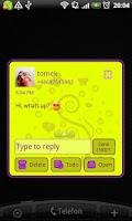 Screenshot of GO SMS Pro Purple&Yellow Theme