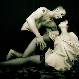 Pasion by Don Thurheimer - People Couples ( love, image, couple, passion, antiqued )