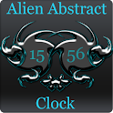Alien Abstract Digital Clock icon