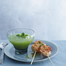 Fiery Grilled Shrimp with Honeydew Gazpacho