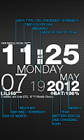 Screenshot of wp clock design live wallpaper