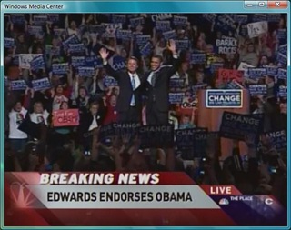 Edwards Endorses Obama in Michigan