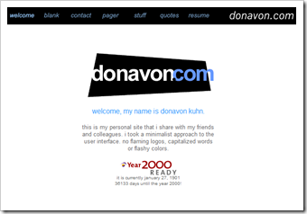 donavon.com from 2000