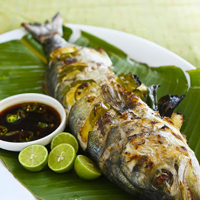 Grilled Whole Fish with Chili Soy Dipping Sauce