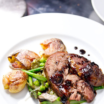 Slow Roasted Lamb with Bordeaux Caramel