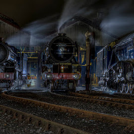 Ready for Bed by Steve Dormer - Transportation Trains