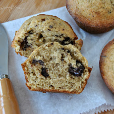 Banana Muffins with Dark Chocolate