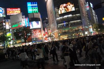 Famous Shibuya pedestrian crossing