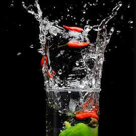 Chilly splash by Rakesh Syal - Food & Drink Fruits & Vegetables