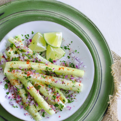 Spiced Cucumber Sticks with Chaat Masala