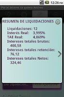 Screenshot of Financial simulator