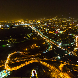 View from The Top Of Milad Tower, Tehran by Rahul Bakshi - City,  Street & Park  Skylines
